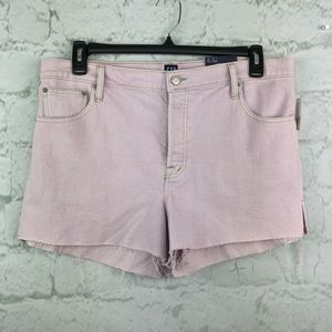 Gap high rise purple shorts 33 raw hem NWT